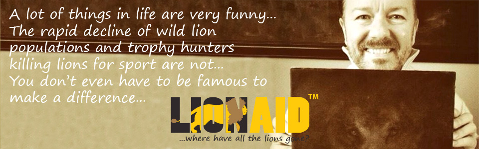 Ricky Gervais supports LionAid