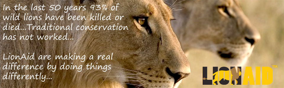 LionAid - Real solutions for a real problem - Saving Wild Lion Populations
