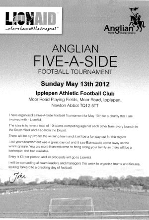 Anglian Five - A - Side Football Tournament