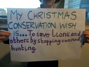 Christmas conservation wish lists for 2013 from children at Navigation Primary School