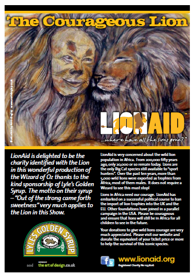 LionAid's feature in the new Wizard of Oz Show programme, from May 1st