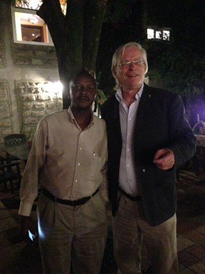 Meeting with elephant campaigner, Jim Nyamu